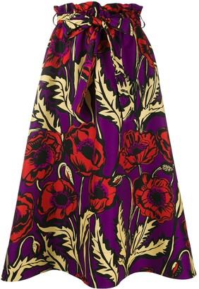 La DoubleJ Sardegna Big Blooms-print skirt