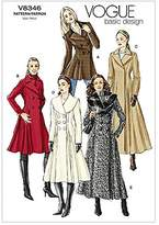 Vogue Ladies Easy Sewing Pattern 8346 Lined Fitted Double Breasted Coats