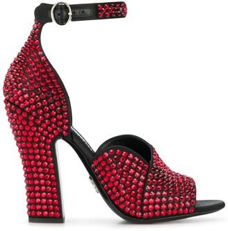 Prada Studded Buckle Sandals