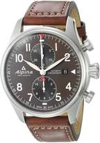 Alpina Men's AL-725GR4S6 STARTIMER PILOT Analog Display Automatic Self Wind Brown Watch