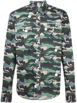 MAISON KITSUNÉ camouflage print shirt