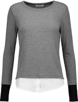Bailey 44 Keaton cotton-blend poplin and stretch-jersey top