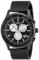 Akribos XXIV Men's AK625BK Round Dial Chronograph Quartz Bracelet Watch