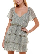 Thumbnail for your product : Trixxi Juniors' Surplice Tiered Dress