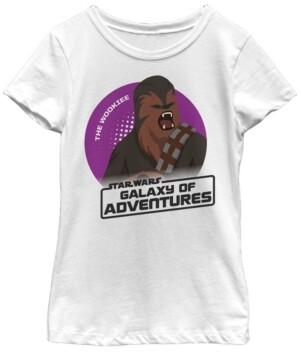 Fifth Sun Star Wars Big Girl's Galaxy of Adventures Chewbacca Roar B1P Short Sleeve T-Shirt