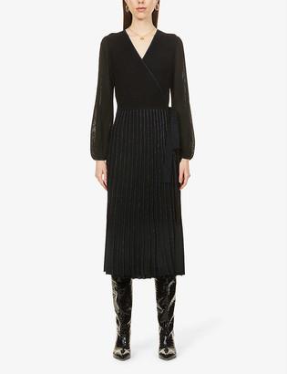 Diane von Furstenberg Shelley wrap-over stretch-knit midi dress