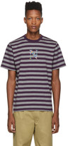Noah NYC Purple and Grey Striped Bouquet T-Shirt
