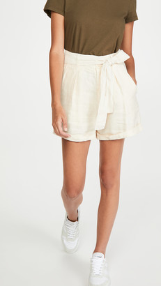 Alex Mill Pleated Shorts In Linen