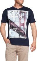 TAROCASH Bridge V-Neck Printed Tee