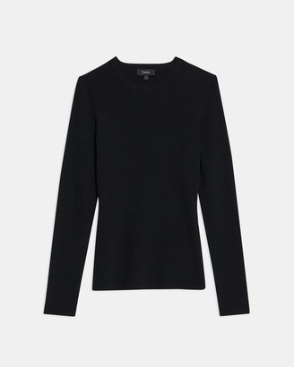 Theory Crewneck Sweater in Compact Crepe