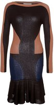 Thumbnail for your product : Stefanel Robe pull marron