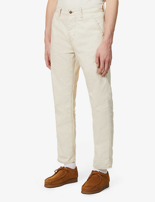 Lee Jeans Carpenter straight denim and linen-blend jeans
