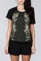 Ark & Co Gold Lace Top