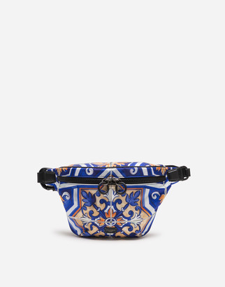 Dolce & Gabbana Nylon Fanny Pack With Maiolica Print