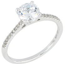 Bony Levy Pave Diamond Round Engagement Ring Setting