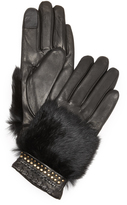 Rebecca Minkoff Fur Patch Texting Gloves