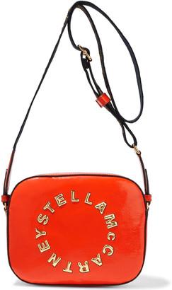 Stella McCartney Stella Logo Mini Appliqued Faux Patent-leather Shoulder Bag