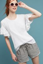 Anthropologie Sorrento Ruffle-Sleeved Top