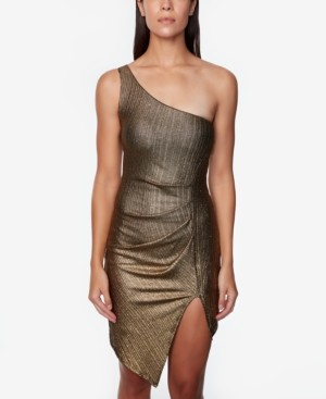 Jump Juniors' One-Shoulder Foil Dress