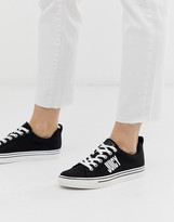 Juicy Couture logo lace up sneaker in black
