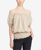 Lauren Ralph Lauren Petite Off-The-Shoulder Jersey Top