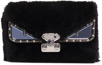 Fendi Small Bag Bug Genuine Shearling Crossbody Bag