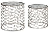 Uttermost Aida Accent Tables in Silver (Set of 2)