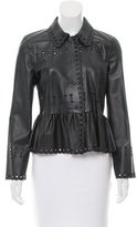 RED Valentino Long Sleeve Leather Top w/ Tags