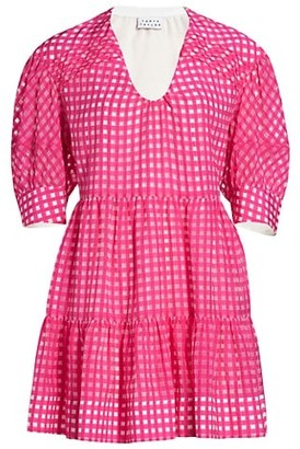 Tanya Taylor Cayla Grid Mini Dress