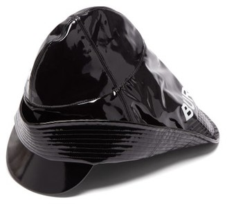 Burberry Logo-printed Vinyl Rain Hat - Mens - Black