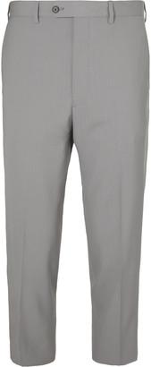 Prada Cropped Virgin Wool Trousers