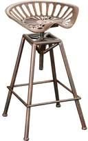 Great Deal Furniture Riverside Saddle Copper Bar Stool