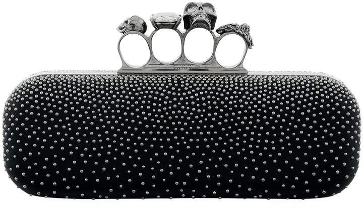 Alexander McQueen Studded Leather Knuckle Box Clutch
