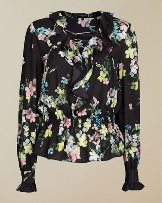 Ted Baker Pergola Frilled Lace Up Top