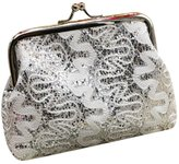 Changeshopping Womens Small Sequin Wallet Card Holder Coin Purse Clutch Handbag