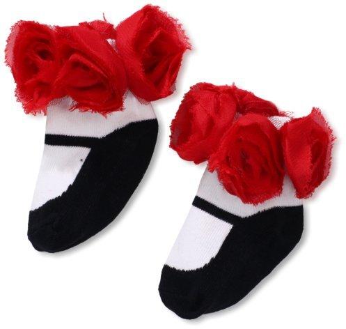 Mud Pie Baby-Girls Newborn Rosette Socks