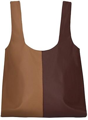 Nanushka Jo Colorblock Vegan Leather Tote