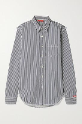 Denimist Distressed Striped Cotton-twill Shirt