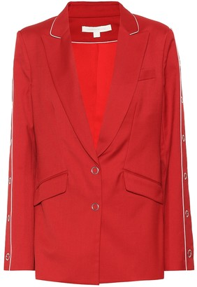 Jonathan Simkhai Embellished wool-blend blazer