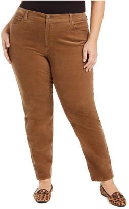 Charter Club Plus Size Lexington Tummy-Control Corduroy Jeans