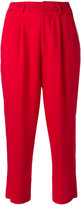 Aviu high waisted cropped trousers - women - Polyamide/Polyester/Spandex/Elastane/Viscose - 40