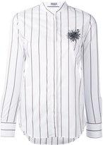 Brunello Cucinelli embellished chest striped shirt - women - Cotton/Spandex/Elastane - S