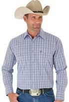 Wrangler Men's George Strait Patriot Two Pocket Long Sleeve Woven Western Shirt