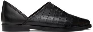 Toga Virilis Black Croc Loafers