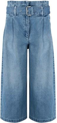 MICHAEL Michael Kors Cropped Wide-Leg Jeans