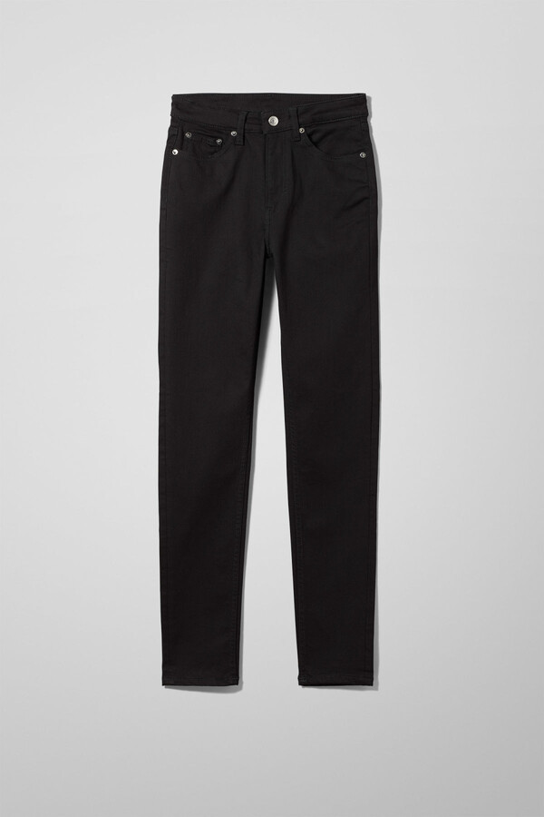 Thumbnail for your product : Weekday Thursday High Skinny Jeans - Black