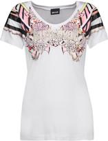 Just Cavalli Studded printed stretch-jersey T-shirt