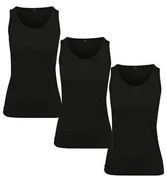 Build Your Brand Women's Ladies Merch Top 3-Pack Vest,XX-Large
