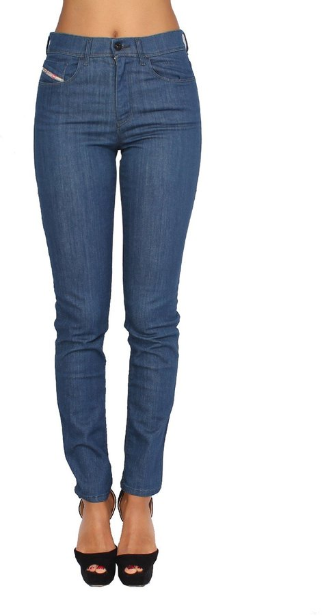 Diesel Women's Jeans HIGHKEE 69P - Slim - Straight - Stretch