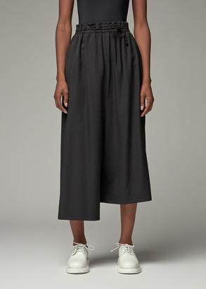 Y's by Yohji Yamamoto Women's Drawstring Waist Pant in Black Size 1